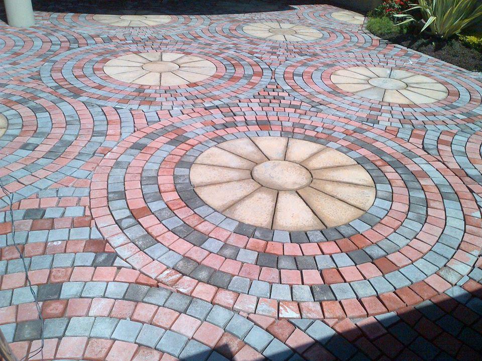 Circle Landscape Paving Tiles Patio Designs Cheap Pavers